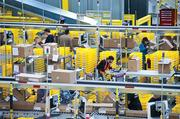 One of the fulfillment centers within an Amazon plant.