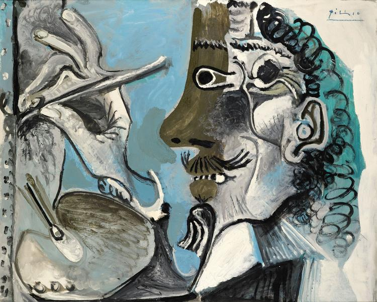 """Le Peinture,"" a 1967 painting by Pablo Picasso, was included among 72 Impressionist and modern artworks offered at Sotheby's in London in 2013. Source: Sotheby's via Bloomberg"