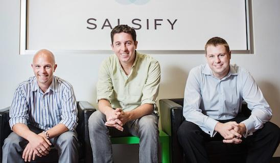 Salsify's co-founders: From left, Rob Gonzalez, Jeremy Redburn and Jason Purcell.