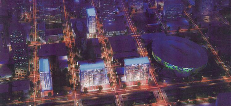 The Cordish Co. plans to build four high-rise apartment buildings in downtown Kansas City.