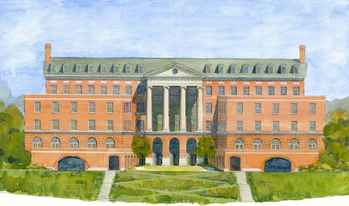 A rendering of the new Brock School of Business building at Samford University.