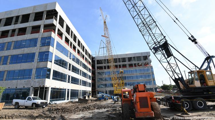 Cemex will move its U.S. headquarters into the 10100 Katy Freeway building, which topped out on June 14.