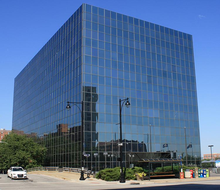 Executive Plaza Office Building — also known as the Flashcube Building — is at 720 Main St.