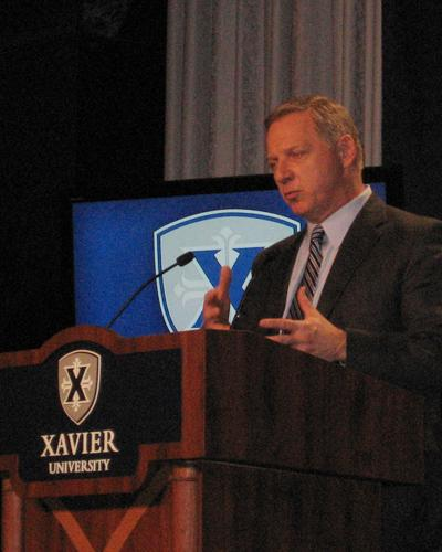 Xavier University Athletic Director Mike Bobinski talks about the university's move to the new Big East.