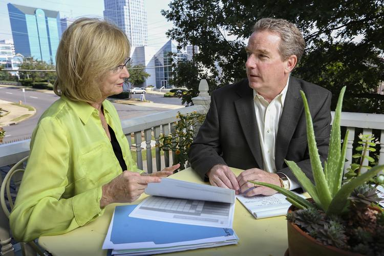 Woodbine CFO Wanda Trexler meets with Peter Mitchell, president & CEO, to discuss how the Affordable Care Act will impact their small business.