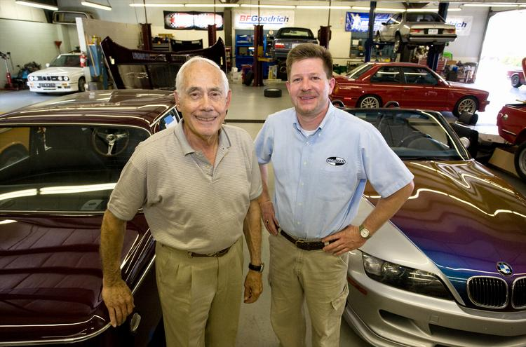 Ray Korman, left, owner and Allen Patterson, manager of Korman Autoworks, Inc.
