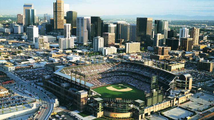 Coors Field, home of the Colorado Rockies.