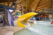 The water park at Great Wolf Lodge in Wisconsin Dells