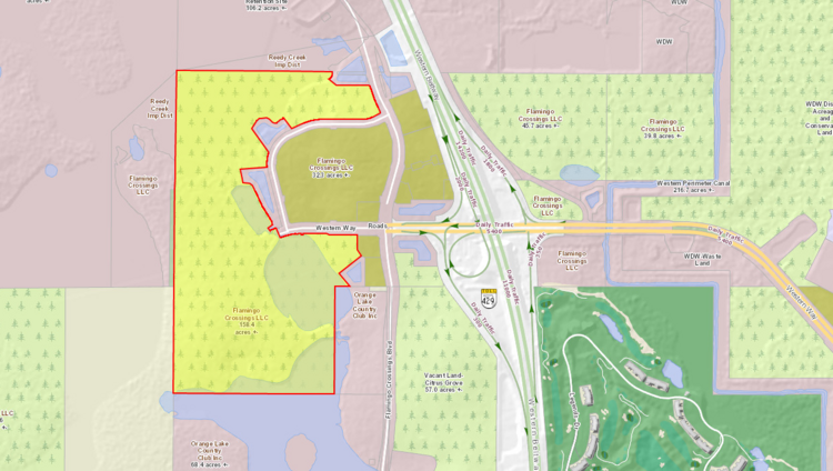 Disney sold 158 acres of land at Flamingo Crossings to a Pembroke Pines-based company.
