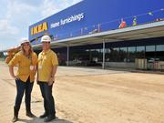 Left to right: Trisha Bevering, manager of Ikea Memphis and Joseph Roth, U.S. expansion and property public affairs manager for Ikea