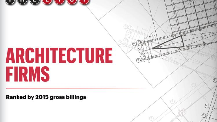 The list architecture firms south florida business journal for Southern california architecture firms