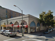 The current site at 1261 Harrison St. in Oakland where a 15-story tower has been proposed.