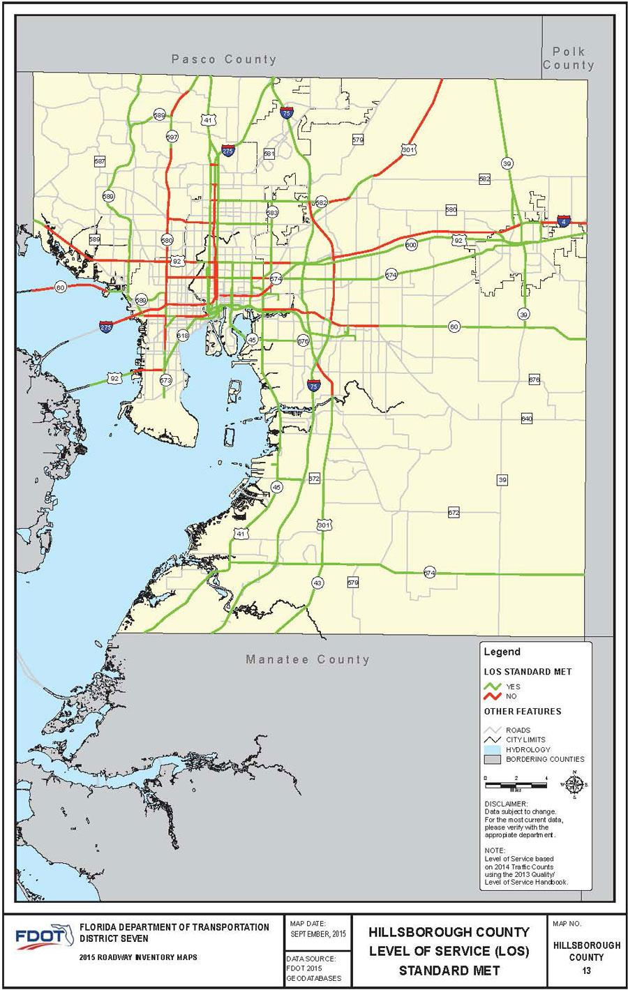 Florida Road Map 2015.Here S What Tampa Bay Traffic Looks Like According To Fdot Tampa