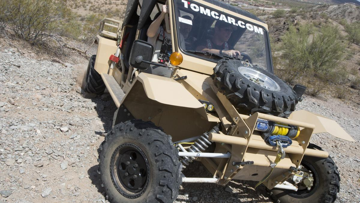 Nearly Indestructible Off Road Vehicle Manufacturer Tomcar Making Its Electric Vehicles Available For Commercial Use Hiring Video