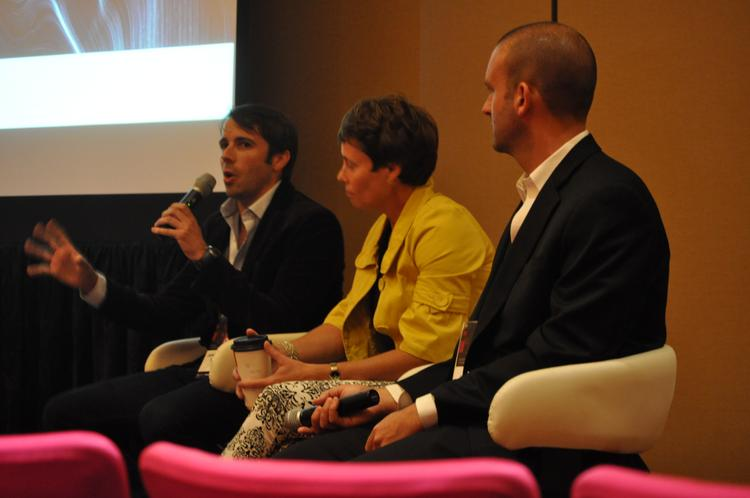 Jamie Newton, vice president, client development at Tongal; Ann Mooney, CEO at Rising Moon Consulting; and Ben Nicholson, creative director at Lightborne, discuss storytelling and marketing.