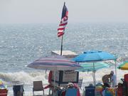 An Ocean City Beach Patrol stand.