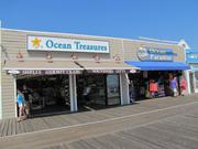 The Ocean Treasures and Ocean Paradise shops on the Boardwalk in Ocean City.
