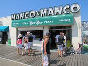 At Manco & Manco on the Boardwalk, customers lined up for pizza.