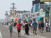 The Boardwalk in Ocean City, N.J., on Sept. 11.