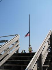 A flag on the Boardwalk in Ocean City, N.J., flies at half mast on Sept. 11.