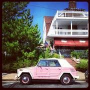 A classic beach car, the VW Thing, in Ocean City.