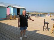 Arthur Weller, owner of Pirates Cove Marina on the bay side of Ocean City, rebuilt his dock but is still fighting for insurance money and Jersey Strong assistance.