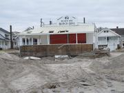 As seen in November 2012, the North End Beach Grill lost dunes and had other damage from Sandy.