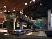 Among the features of the Landmark Theatres project at Via 57 West is a bar that can be used for private events.