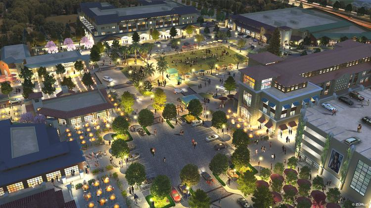 Sand Hill Property Co. will construct a hotel, retail, apartments and offices, creating a village hub for the West Valley's Cupertino.
