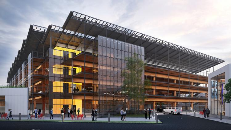 The Glenwood Garage in Springfield will serve as a testing ground for cross-laminated timber.