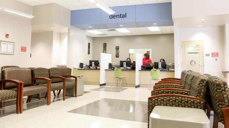 Lobby of Christ Community Health Services' latest dental facility, located at the Raleigh location