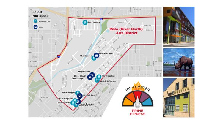 "Denver's River North (RiNo) area is the city's ""coolest"" area and is red-hot for hipness, according to Cushman & Wakefield report."