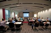 A conference room on the first floor was used for a meeting last week.