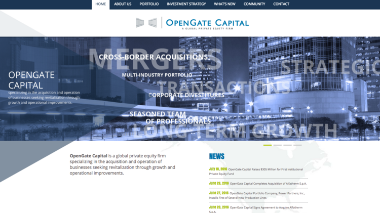 Opengate Capital Raises 305 Million For First Institutional Private