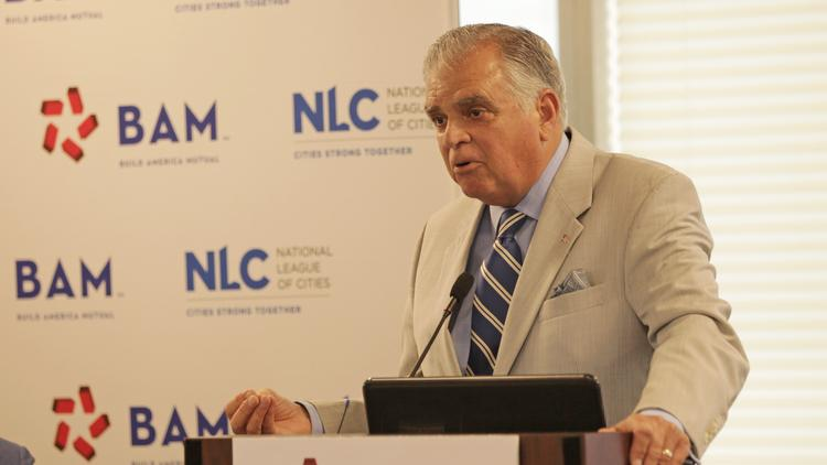 Former Transportation Secretary Ray LaHood speaks at a National League of Cities event in Cleveland, Ohio, on July 19, 2016.