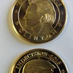Will voters flip for Cincinnati firm's two-headed coin featuring Trump, Clinton?