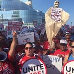 Hundreds travel hours to join Trump Taj Mahal picketers in A.C.