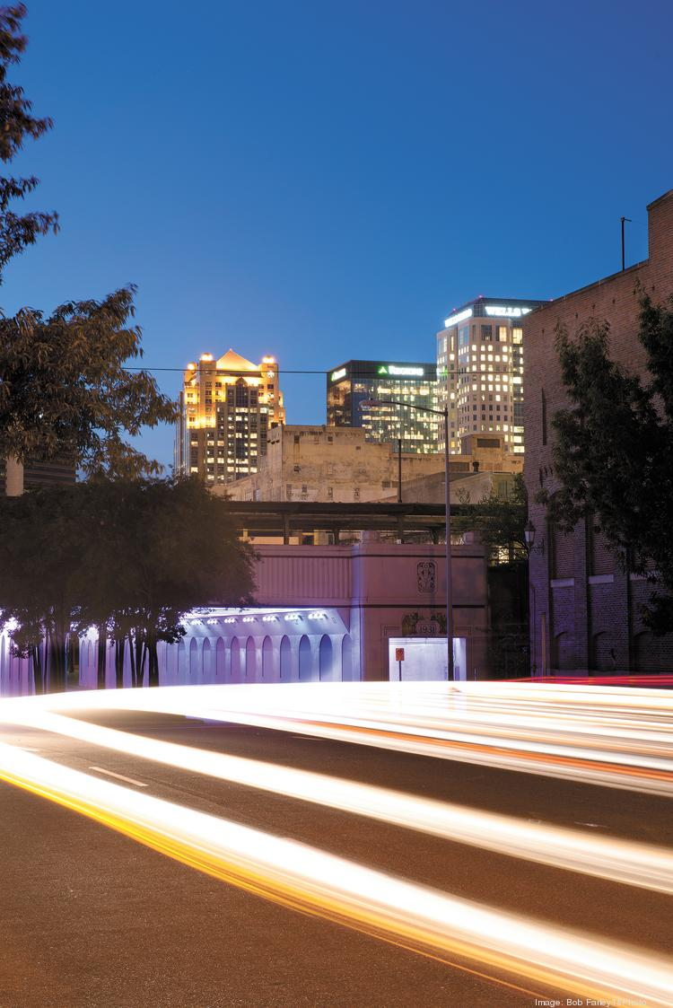 The LightRails art installation under the 18th Street viaduct is just one of many recent projects downtown.