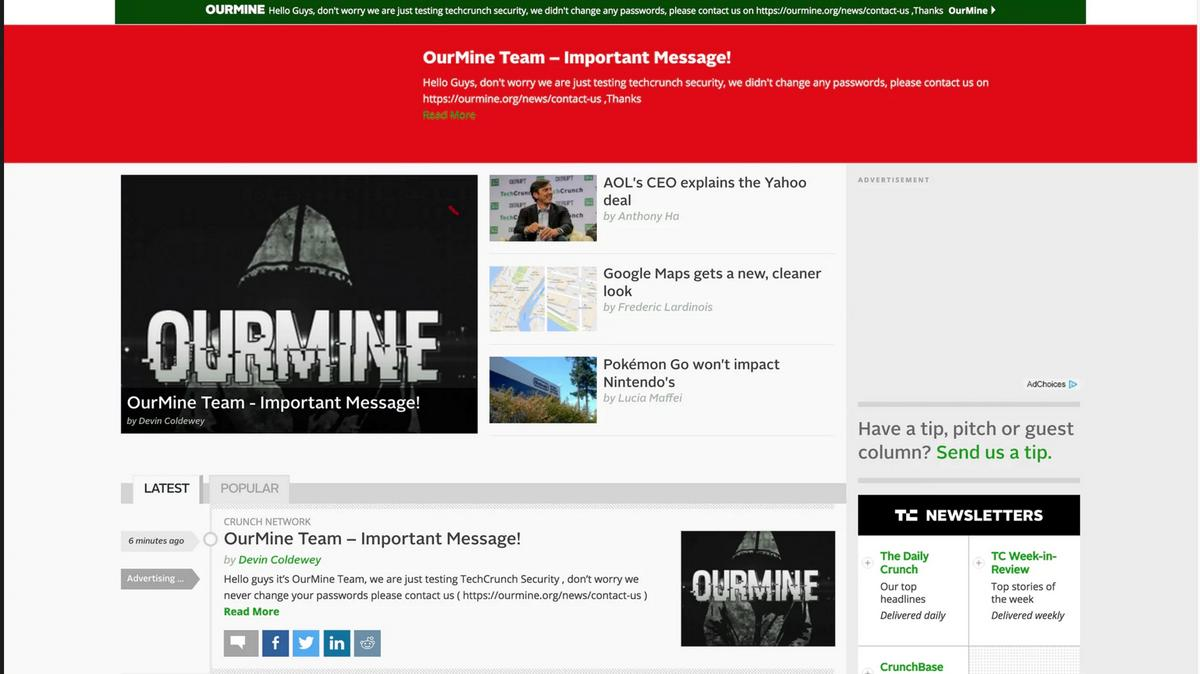 OurMine, the group that hacked Facebook's Mark Zuckerberg
