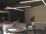 A co-working space encourages tenants to step away from their desks