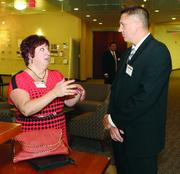 Lisa Davidson of The Outsourced Sales Manager and Robert Balazentis of S&T Bank.