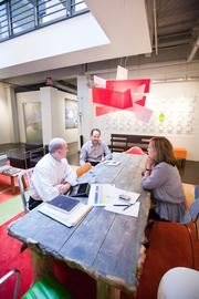 Open tables encourage collaboration.