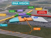A rendering for BNA Vision, a $1 billion upgrade plan for Nashville International Airport.