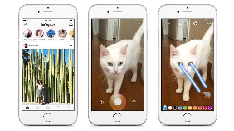 Instagram rips off Snapchat with Stories - L A  Biz