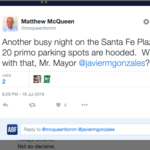 5 things you need to know today, and a state rep tweets parking complaint to Santa Fe mayor