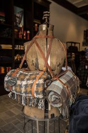 The store sells mostly woolen products, including clothes and blankets.
