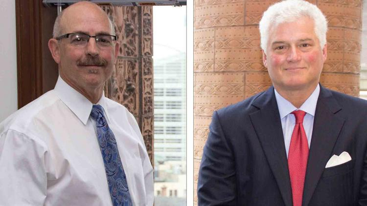 Hodgson Russ President and CEO Rick Kennedy, left, and Chairman Daniel Oliverio say the firm has an enviable infrastructure that has enhanced its success and will help the next generation of management.