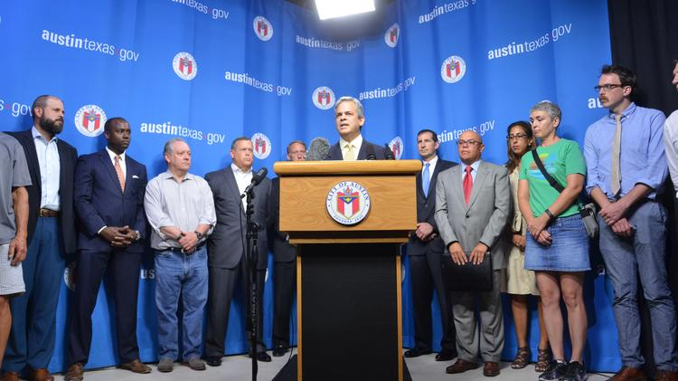 Mayor Steve Adler's proposed $720 million transportation bond  has attracted a broad coalition of supporters, who gathered to endorse the project at a press conference Aug. 5 in Austin City Hall.