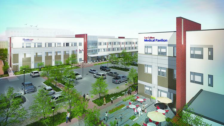 The two-building medical campus, shown here as Las Colinas Medical Pavilion, will get underway this fall.