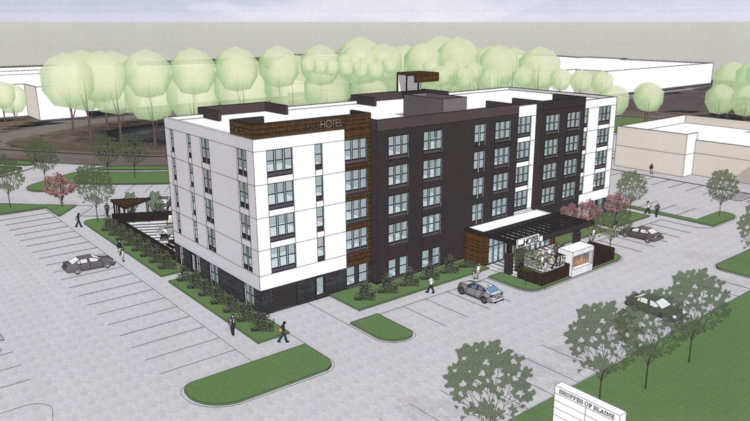 A Rendering Of The Proposed 80 Room Hotel In Blaine Near National Sports